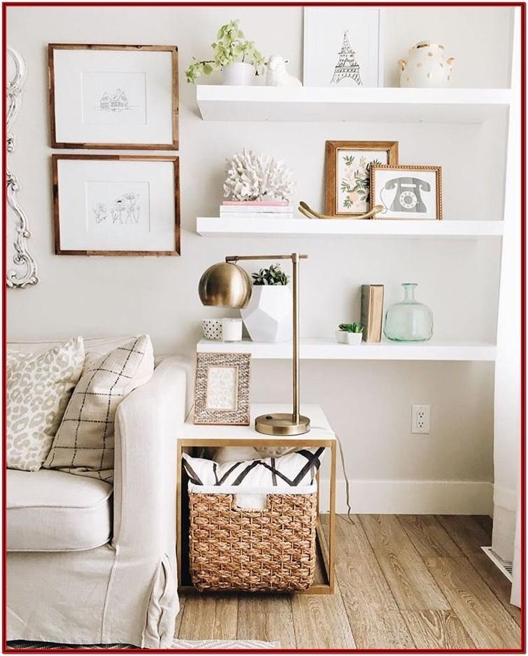 Living Room Floating Shelves Decor Ideas