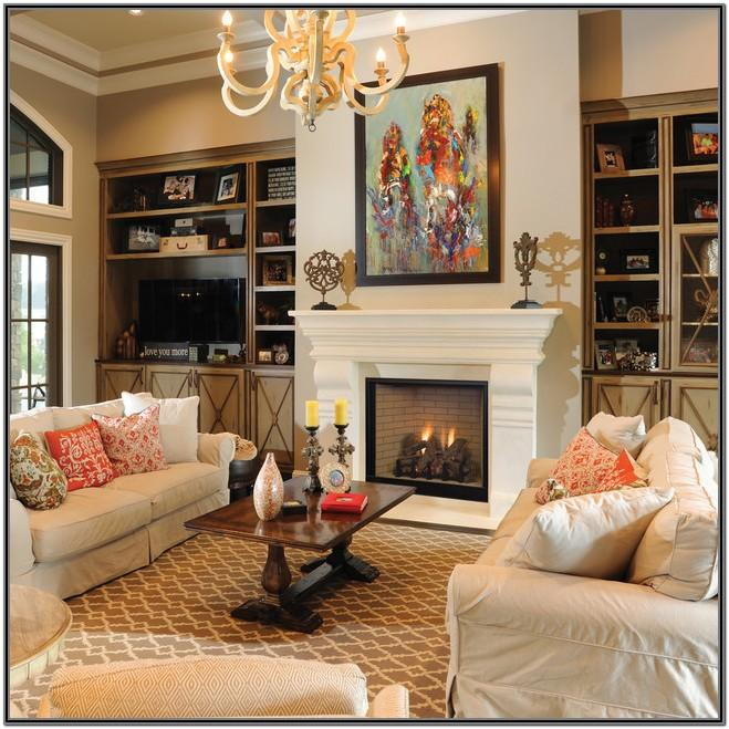 Living Room Gas Fireplace Designs