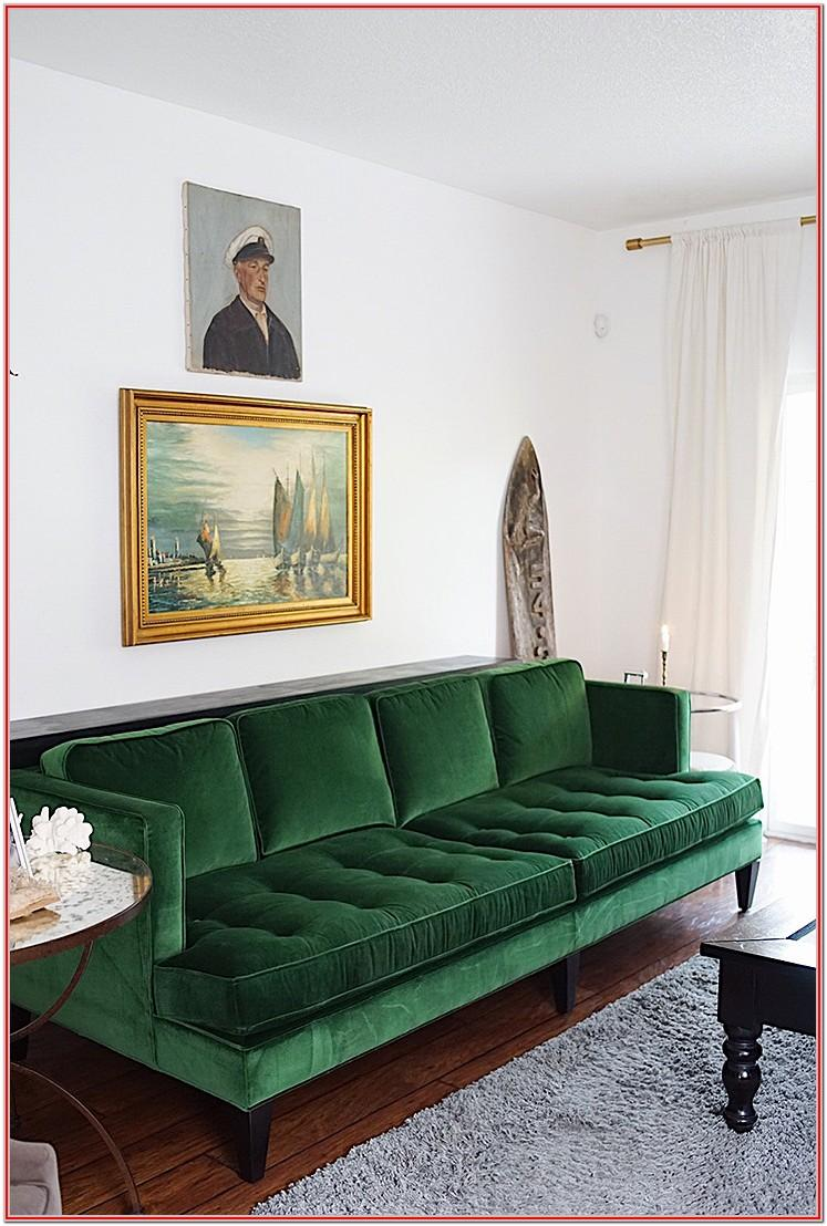 Living Room Green Velvet Chair