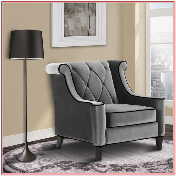 Living Room Grey Velvet Chair