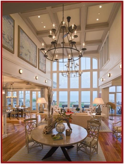 Living Room High Ceiling Wall Decor Ideas
