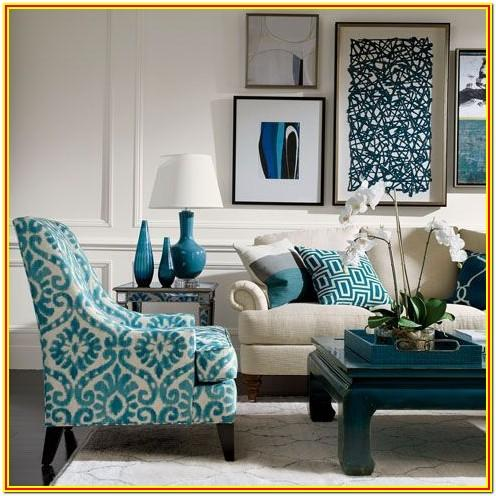 Living Room Ideas With Teal Accents