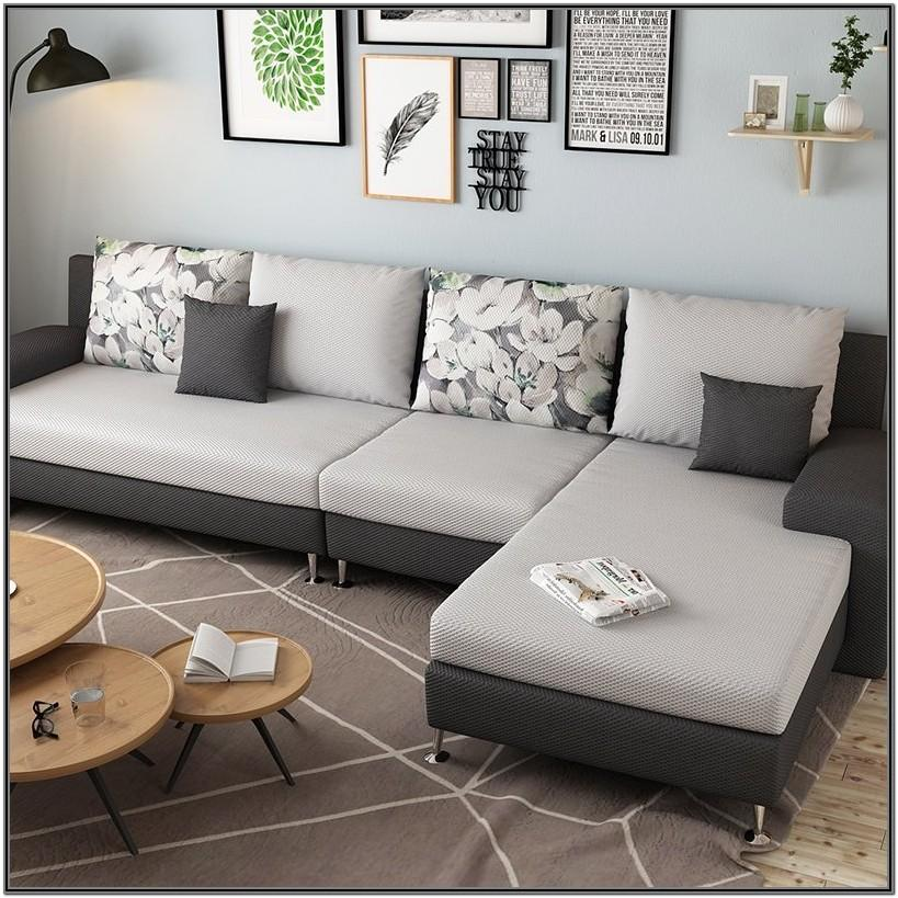 Living Room L Shape Sofa Set Design