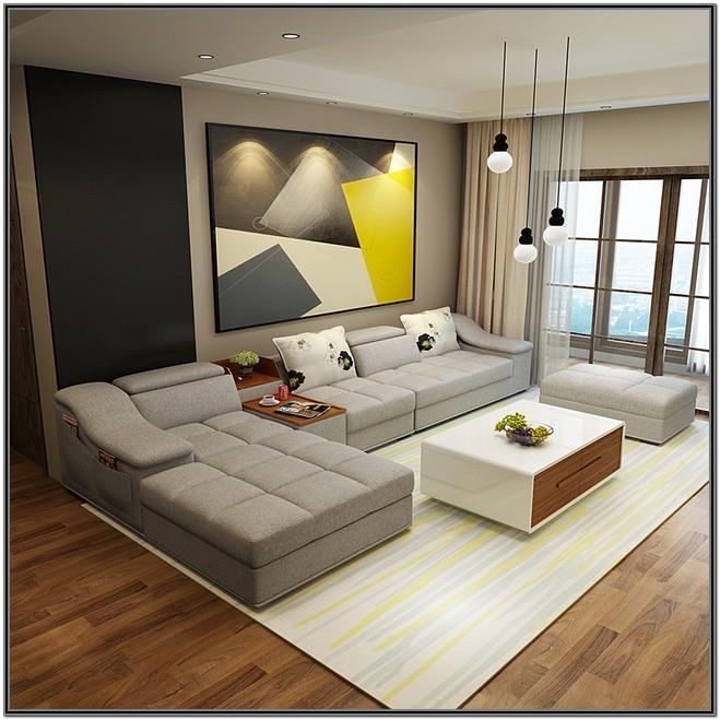 Living Room L Shape Sofa Set