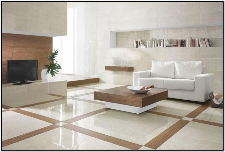 Living Room Modern Floor Tiles Design