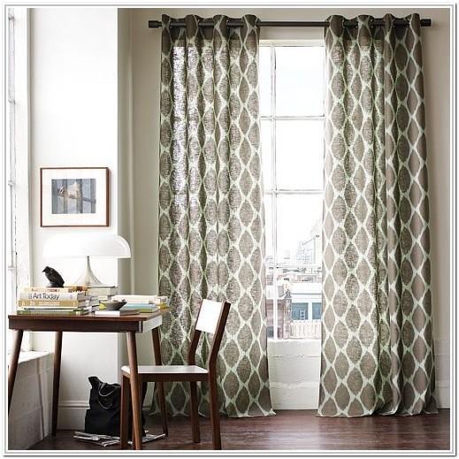 Living Room Modern Living Room Short Curtains