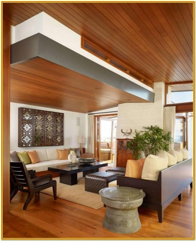 Living Room Modern Living Room Wood Ceiling Design