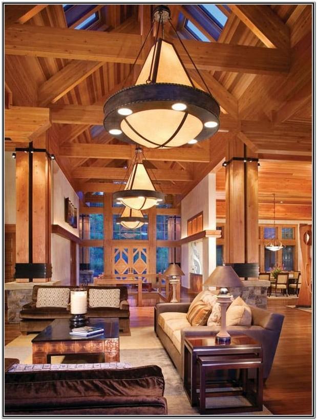 Living Room Mountain Cabin Decor