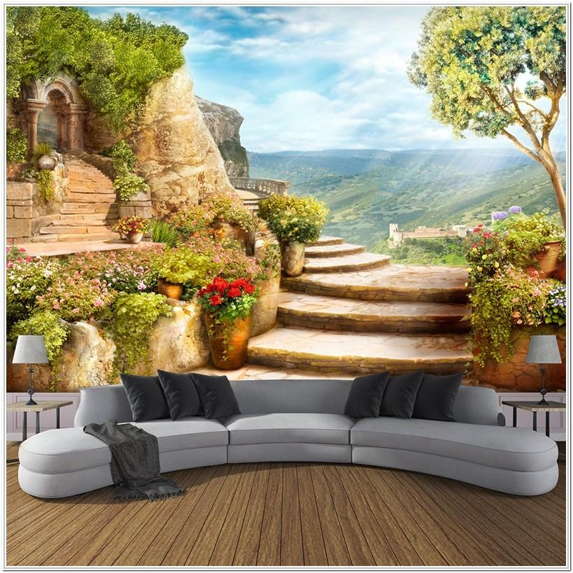 Living Room Nature Living Room Wall Murals