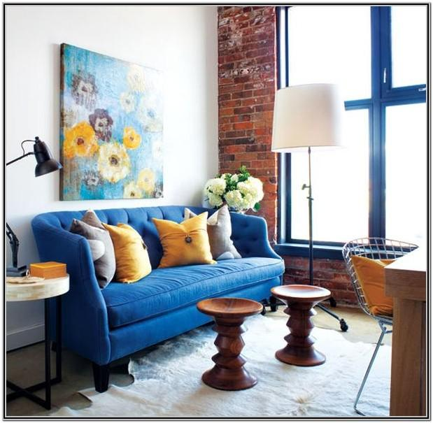 Living Room Royal Blue Home Decor