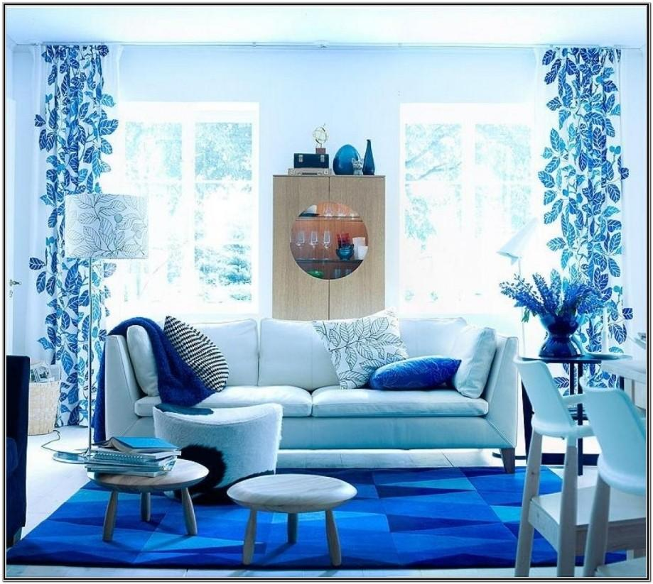 Living Room Royal Blue Wall Decor