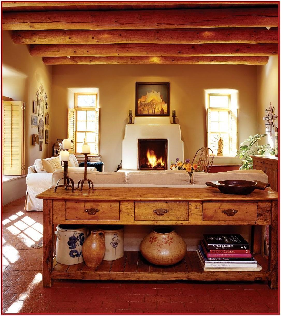Living Room Santa Fe Decor