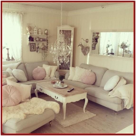 Living Room Shabby Chic Wall Decor Ideas