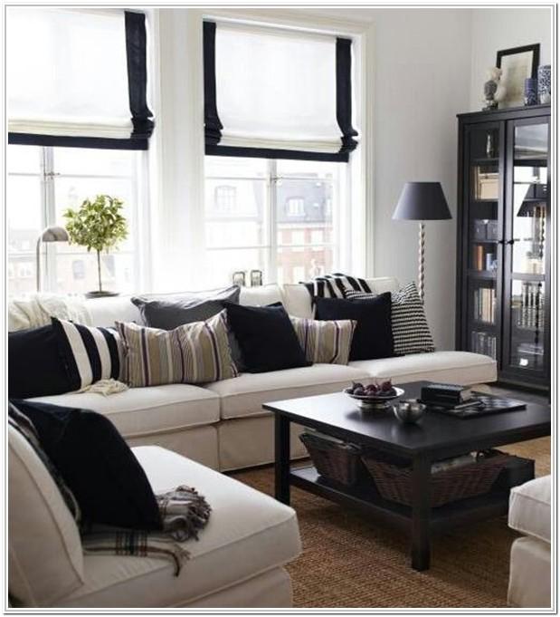 Living Room Short Curtains Ideas