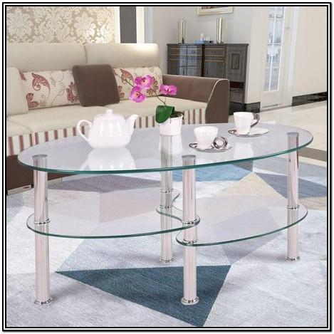 Living Room Side Glass Table Decor