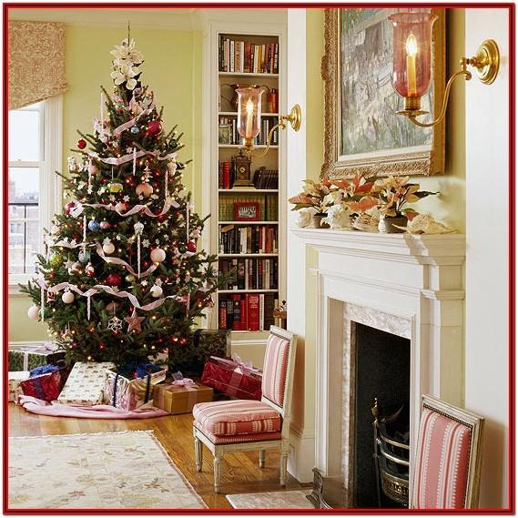 Living Room Simple Christmas Decorations For Home