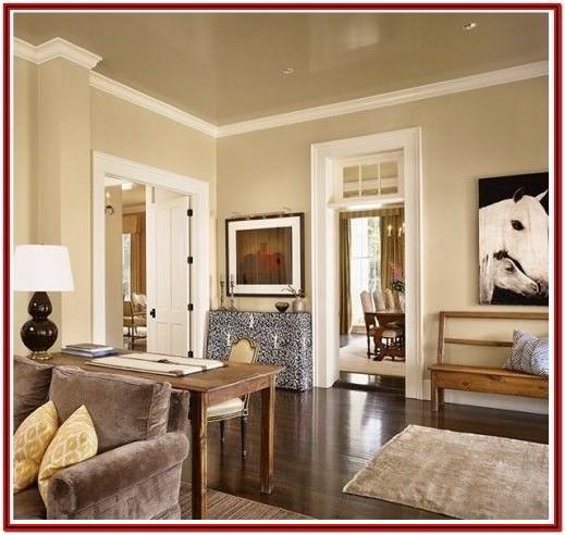 Living Room Tan Walls White Trim