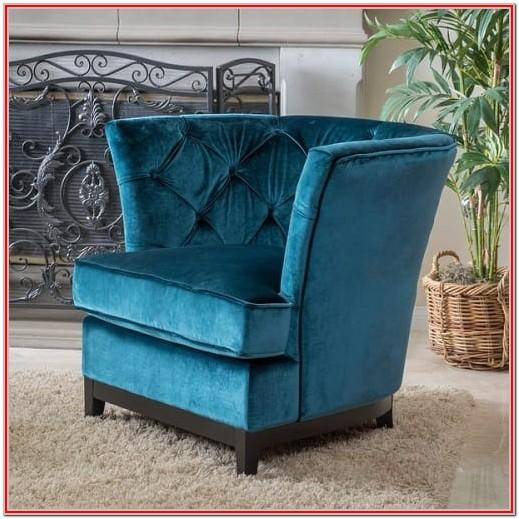 Living Room Teal Velvet Chair