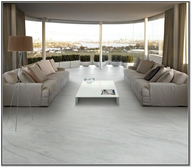Living Room White Marble Floor Design