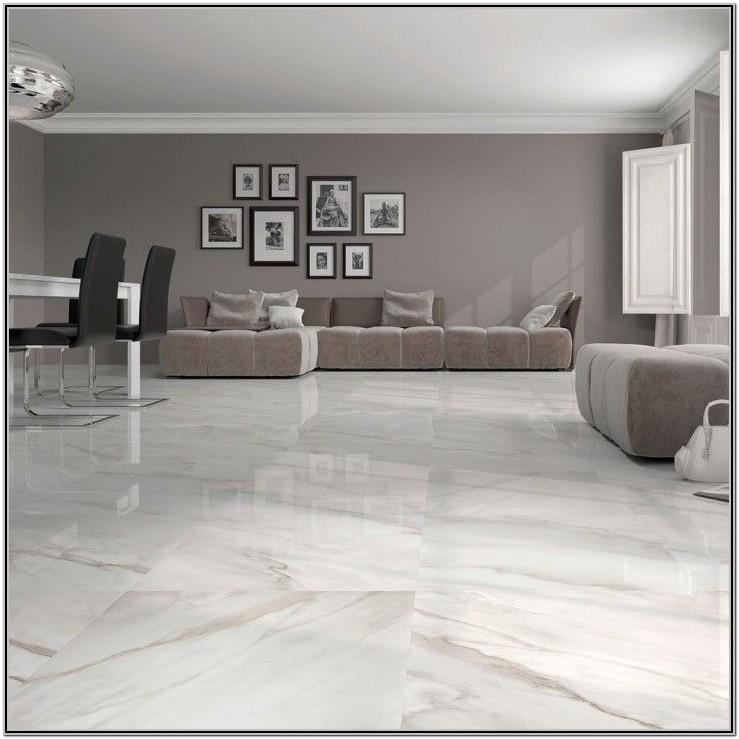 Living Room White Marble Floor