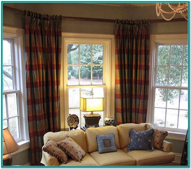Living Room Window Coverings For Bay Windows