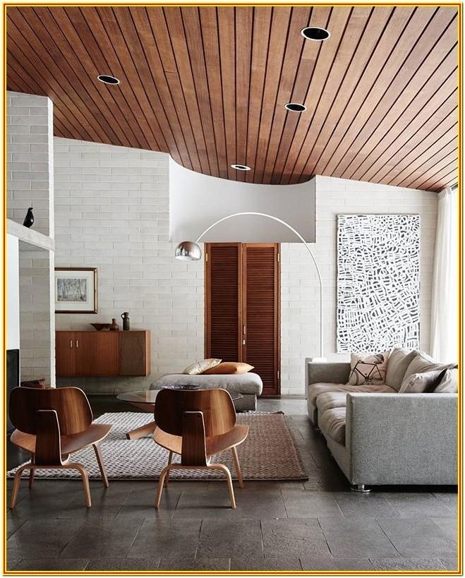 Living Room Wood Ceiling Decor