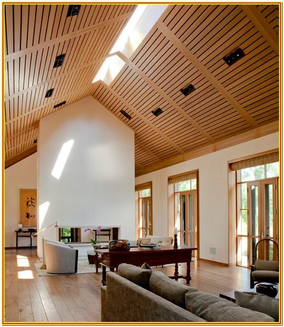 Living Room Wood Ceiling Design