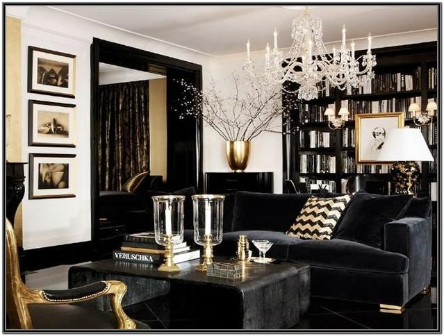 Luxury Modern Black And White Living Room