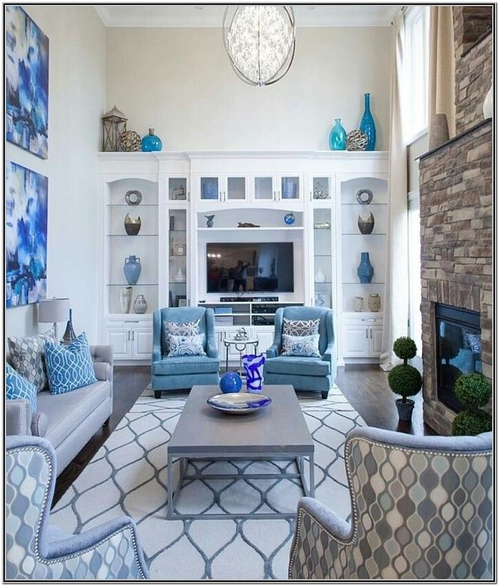 Luxury Royal Blue Living Room Decor
