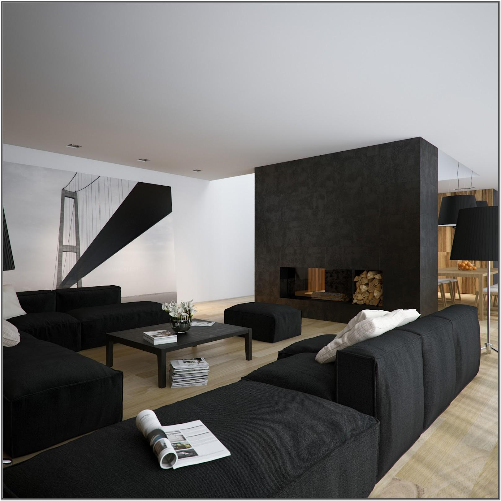Minimalist Modern Black And White Living Room