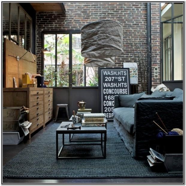 Modern Art Industrial Living Room Decor