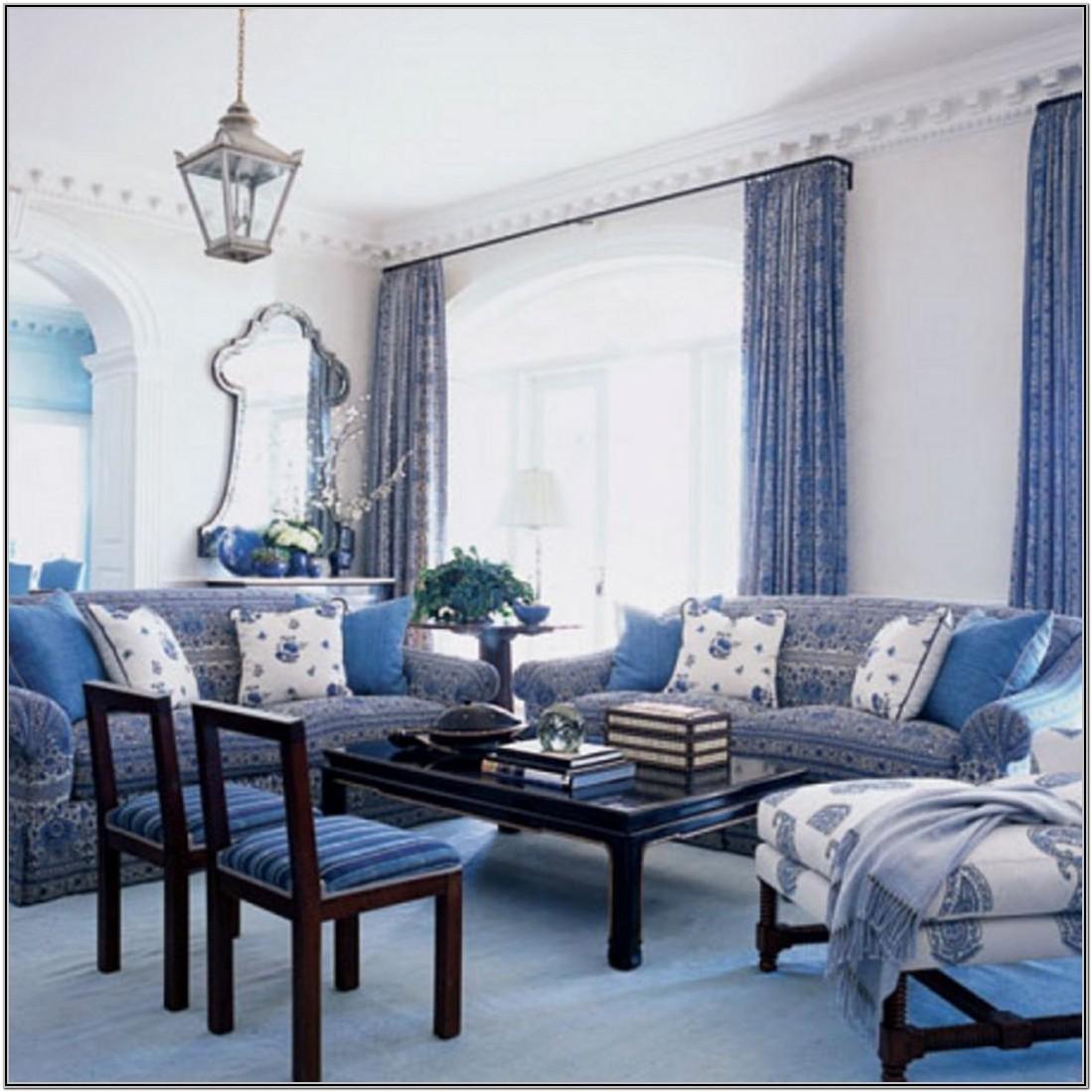 Modern Blue And White Living Room Decor