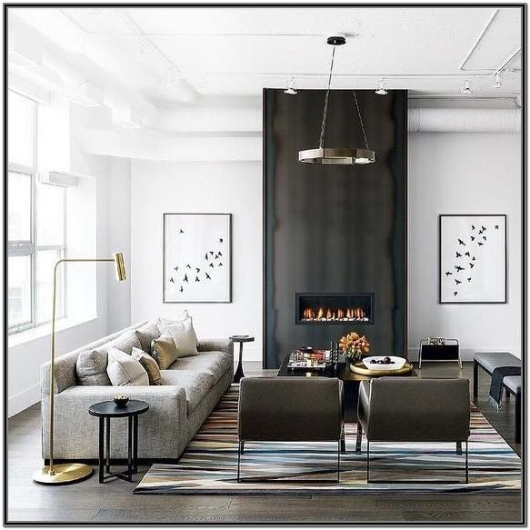 Modern Classic Black And White Living Room