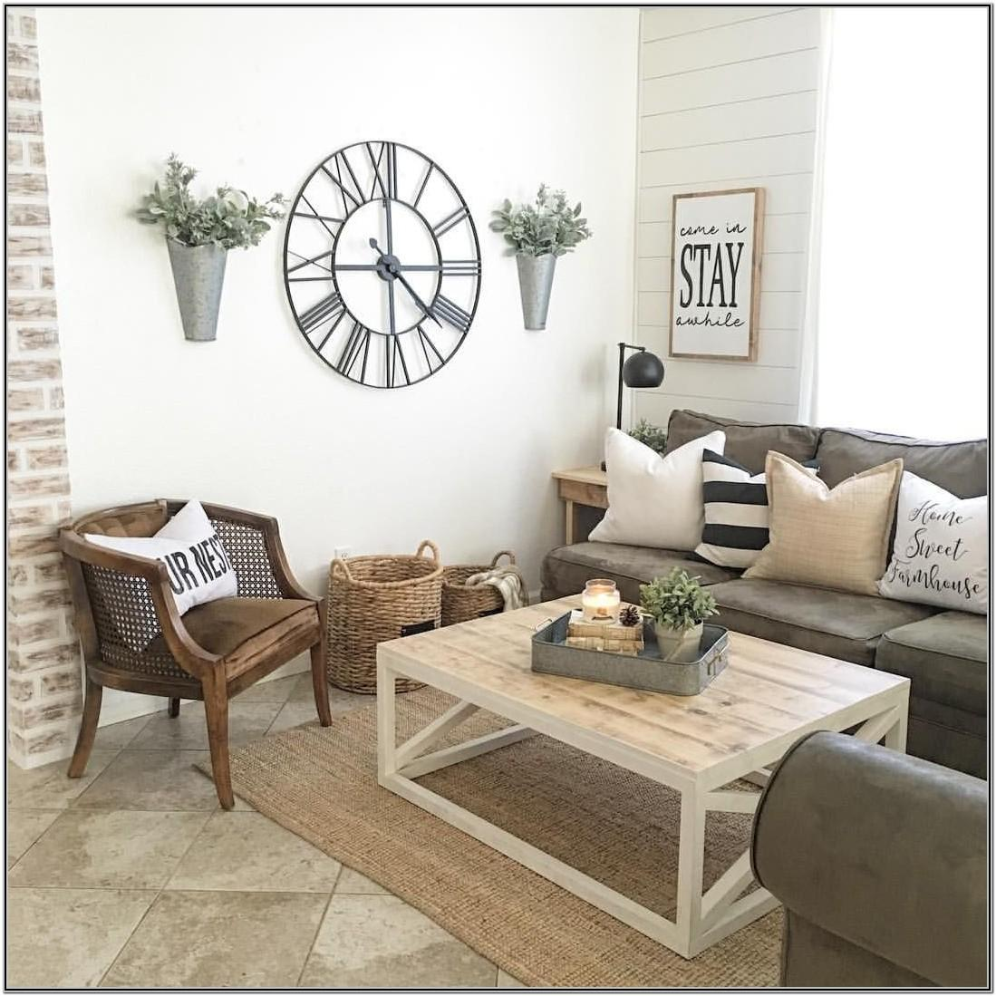 Modern Farmhouse Living Room Wall Decor Ideas
