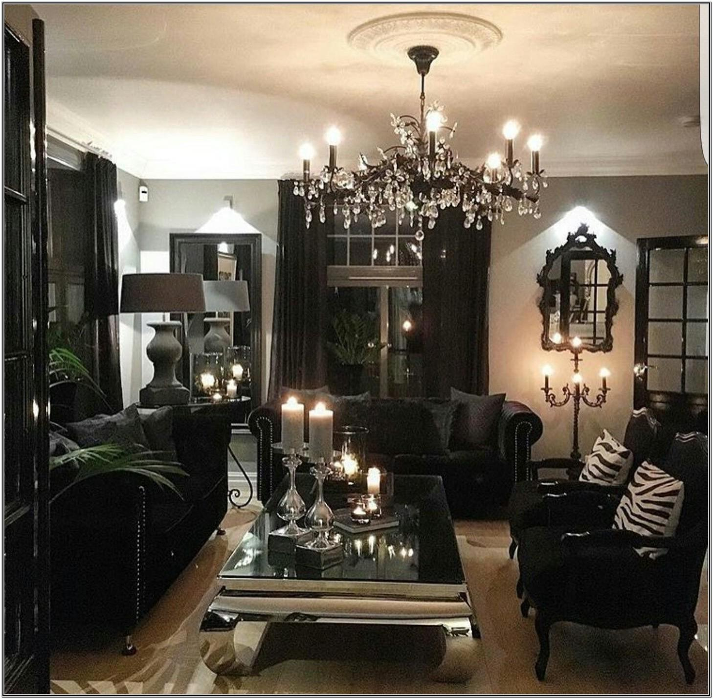 Modern Gothic Small Living Room Decor