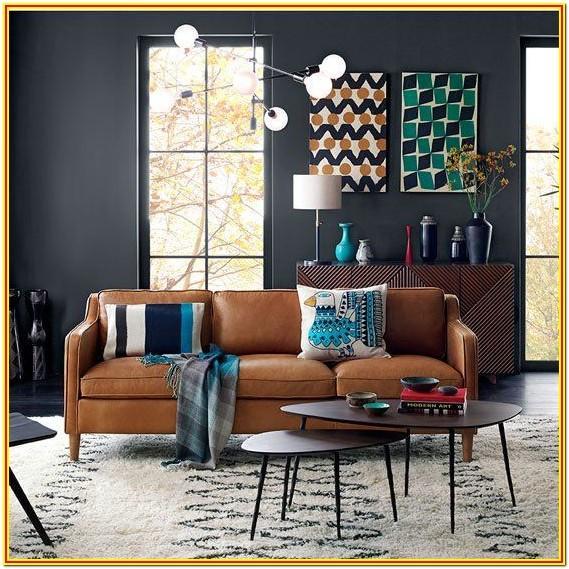 Modern Gray And Tan Living Room