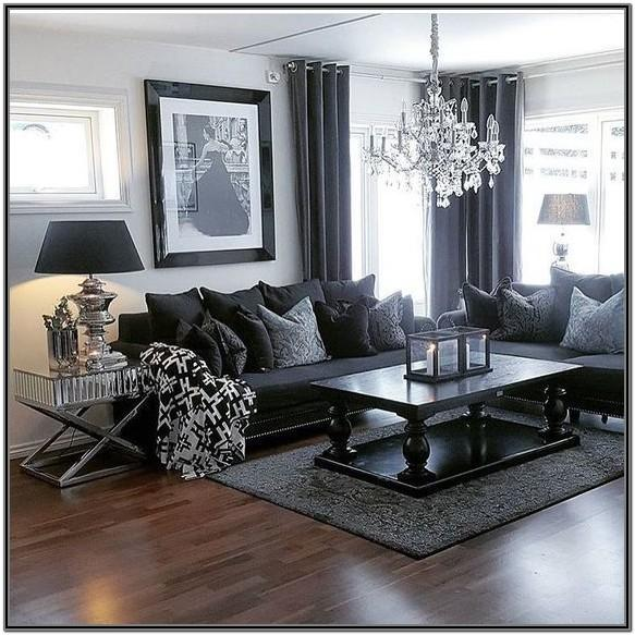 Modern Grey Black And White Living Room