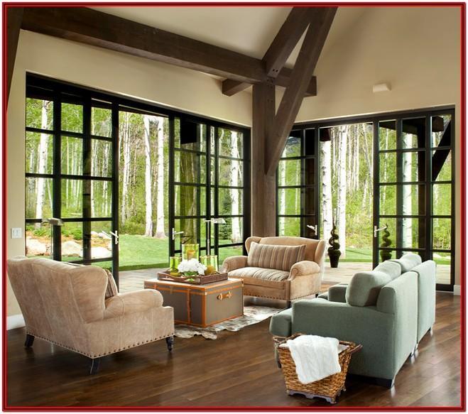 Modern Indoor Outdoor Living Room