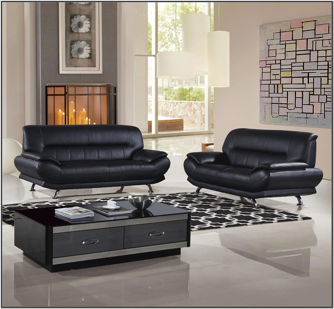 Modern Living Room Black Couches