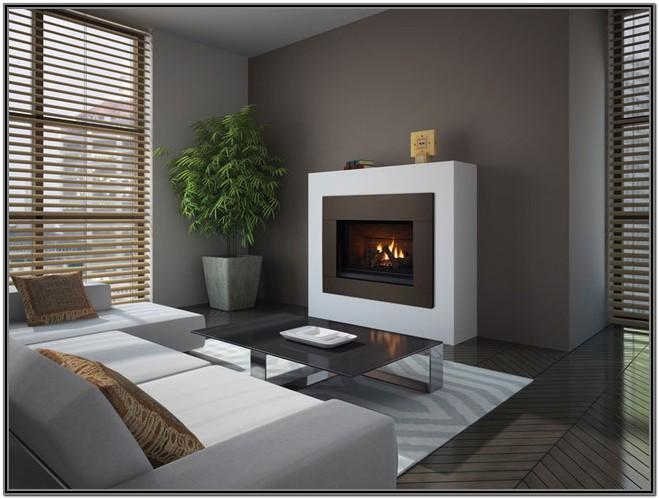 Modern Living Room Gas Fireplace