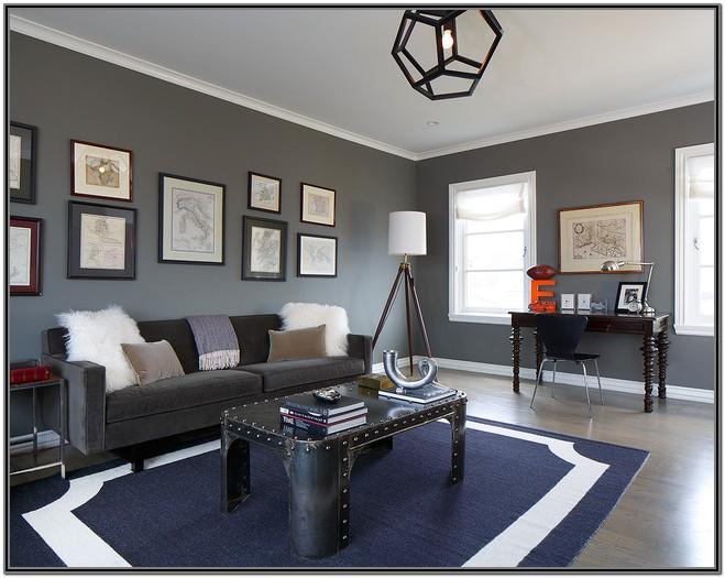 Modern Navy Blue And Grey Living Room