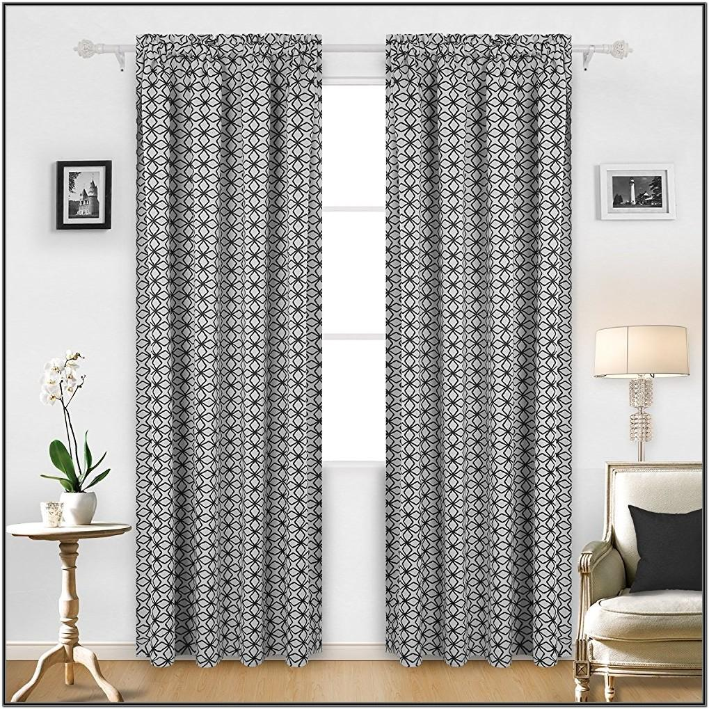 Modern Patterned Curtains Living Room