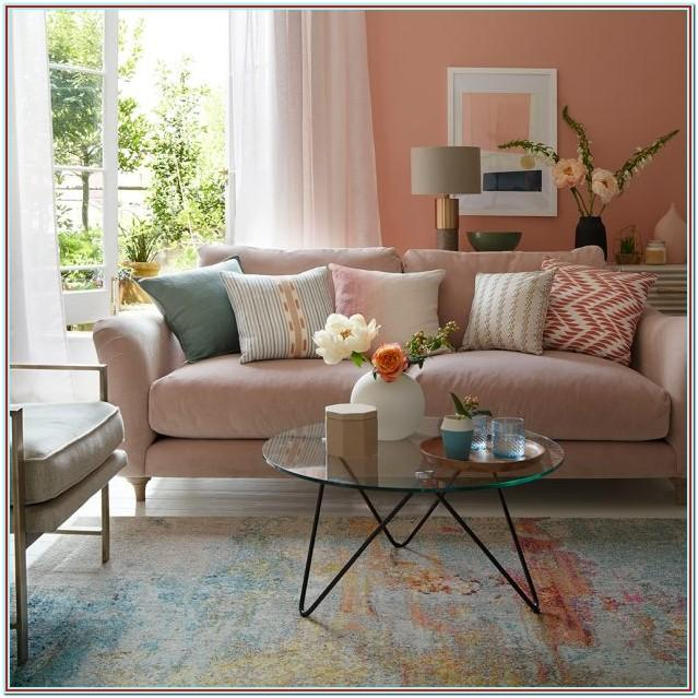 Modern Pink And Brown Living Room