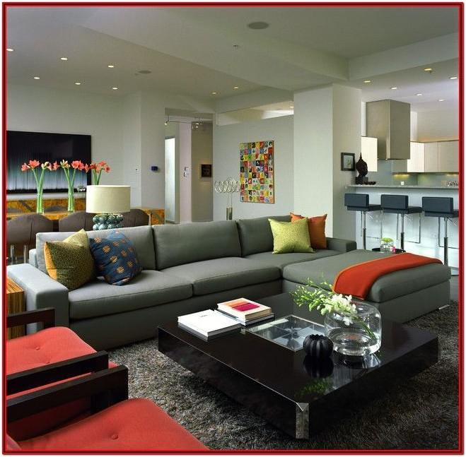 Modern Red And Grey Living Room Ideas
