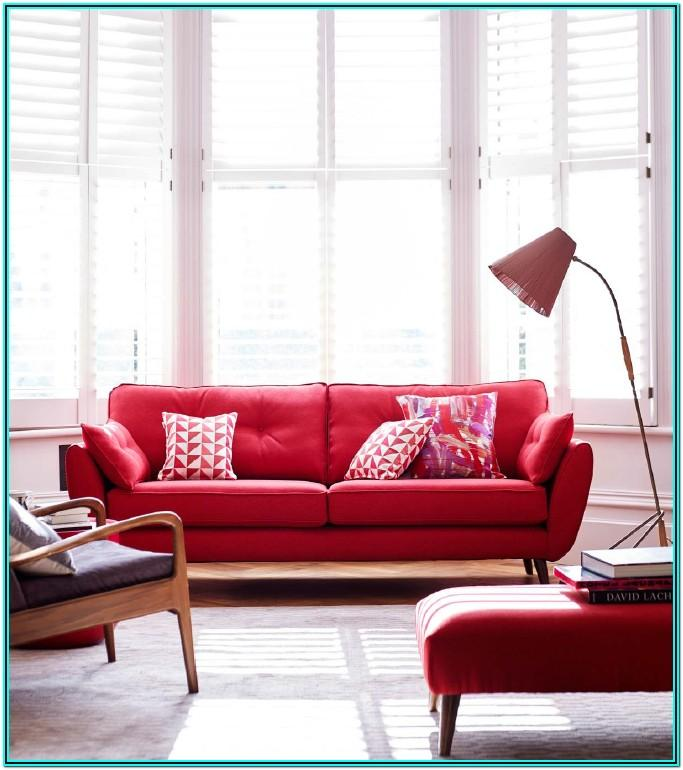 Modern Red Sofa Living Room Ideas