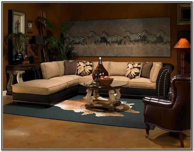 Modern Safari Theme Living Room