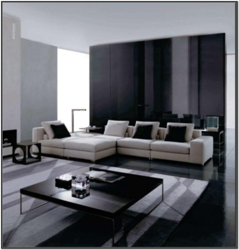 Modern Style Black And White Living Room