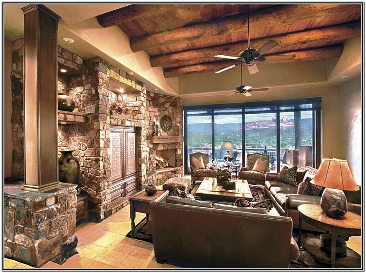 Modern Tuscan Style Living Room