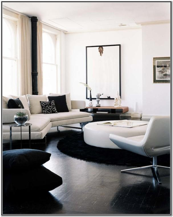 Modern White Floor Living Room