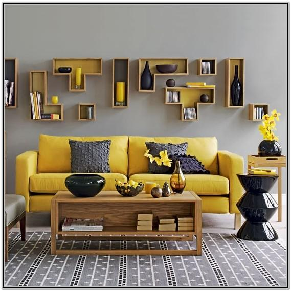 Modern Yellow Couch Living Room